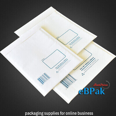 100 #06 300x400mm Bubble Padded Envelope White Cushioned Bag Mailer #5D