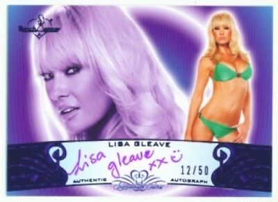 "Lisa Gleave ""autograph /50"" Benchwarmer Signature 10"