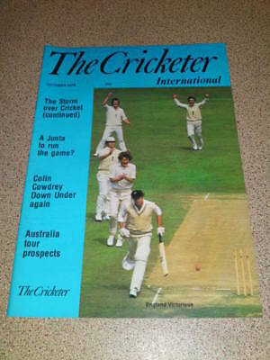 THE CRICKETER - Oct 1978 Vol 60 # 10