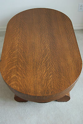 Antique Furniture American Empire Victorian Tiger Quatersawn Oak Coffee Table