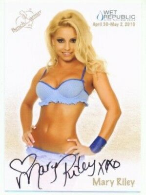 """Mary Riley """"wet Republic Autograph"""" Benchwarmer 2010"""