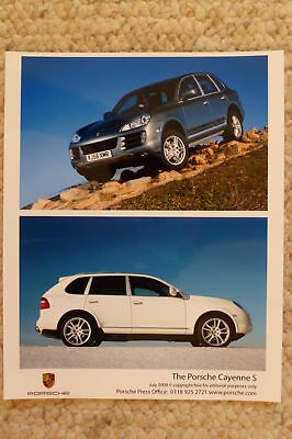 2009 Porsche Cayenne Press Release & Photos RARE!! Awesome L@@K