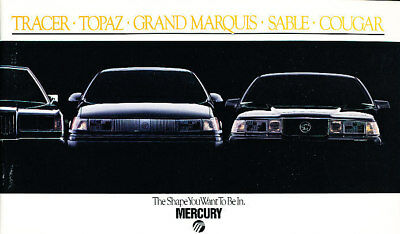 1988 Mercury Car Sales Brochure - Grand Marquis Cougar Sable Tracer Topaz