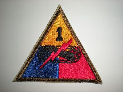 Us Army 1St Armored Division Patch  - Original Wwii Era