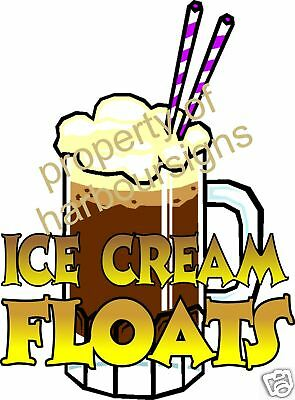 Ice Cream Float Drinks Root Beer Sign Decal Sticker 12""