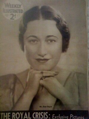 Duke Duchess Windsor Royal Crisis Weekly Illus.mag 1936