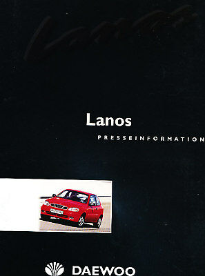 1999 2000 Daewoo Lanos Press Photo Prints and Brochure