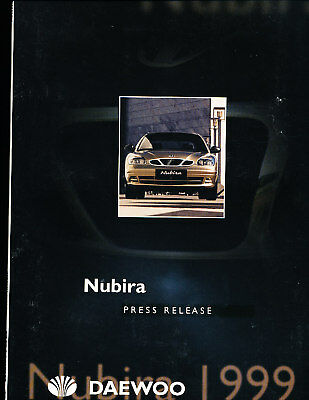 1999 2000 Daewoo Nubira Press Photo Prints y Brochure