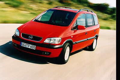 2000 Opel Zafira Frankfurt Press Photo Print
