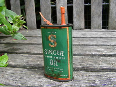 Antique Tin Singer Sewing Machine Oil Can