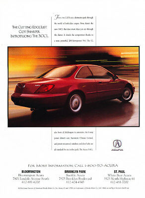 1997 Acura CL Vintage Advertisement Ad P49