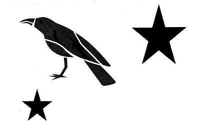 Stencil Primitive Crow and Stars Large