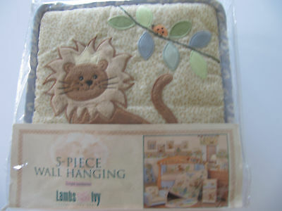 LAMBS & IVY  JUNGLE JAMBOREE  5-PIECE WALL HANGING  NIP