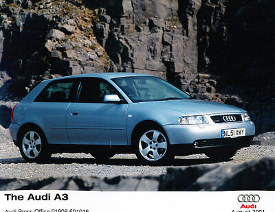 2001 2002 Audi A3 Original Press Photo Print