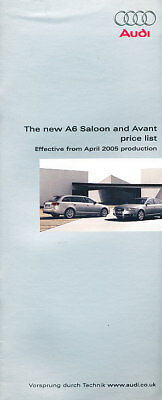 2005 Audi A6 Price List Sales Brochure Guide