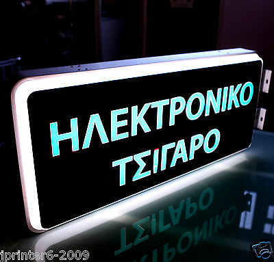 """18""""X40"""" Outdoor double sided Illuminated Light Box Sign Making"""