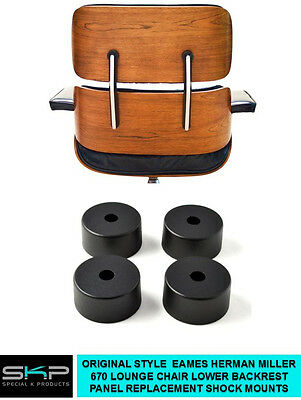 Shock Mounts For Eames 670 Lounge Chair Lower Back Panel, Spacer, Parts Set Of 4