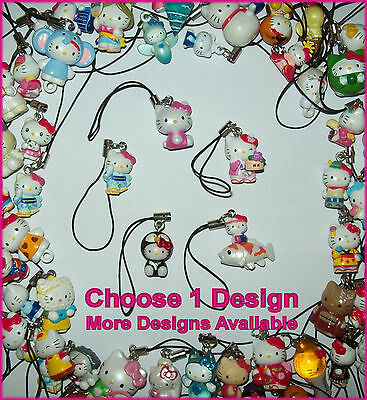 HELLO KITTY MOBILE PHONE CHARM  Ipod Cell iPhone HANDBAG DANGLE Dongle Accessory