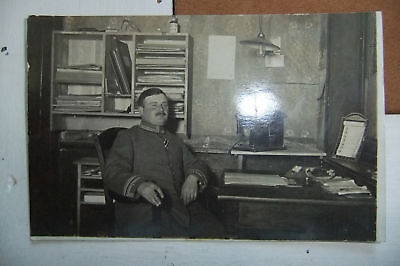 German Wwi Photo Officer Phone Living Room Photocard