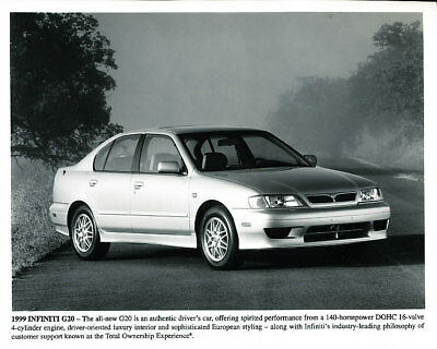 1999 Infiniti G20 Factory Press Print and Sales Sheet