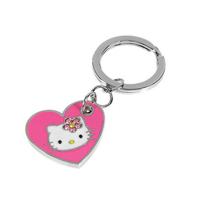 HELLO KITTY Key Ring With Genuine Crystals