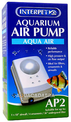 Interpet Ap2 Aquarium Fish Tank Air Pump Tropical Cold