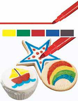 Wilton Foodwriter Primary Bold Tip Color Markers Edible