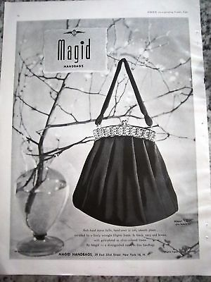1949 MAGID Rayon Handbag Purse Ad