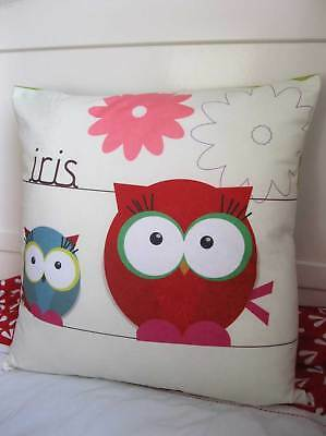 Birthday | Cushion | Gift | Personalised | Owl | Girl