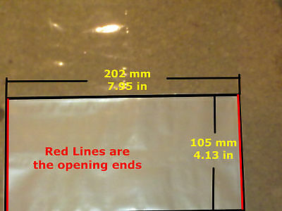 10 Shrink Wrap Heat Seal Craft 105x202mm 7 sizes avail