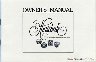 FREE Herschede Grandfather Clock Owners Manual Download