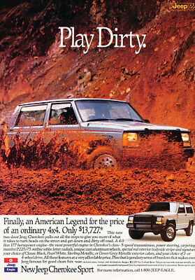 1988 Jeep Cherokee Play Classic Advertisement Ad P67