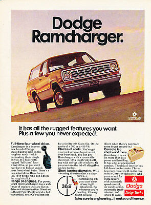 1975 Dodge Ramcharger Classic Advertisement Ad P69