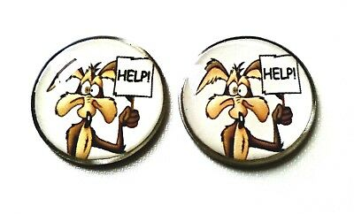 anneys ~TWO - GOLF  BALL  MARKERS - coyote~