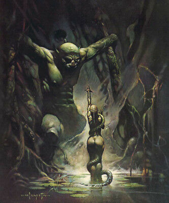 Authentic Frank Frazetta Print #18 SWAMP DEMON -16 X 20