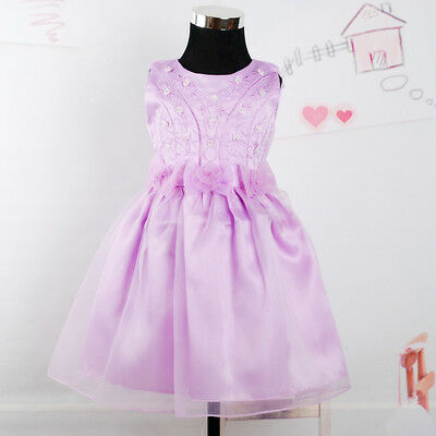 New Lilac Satin Pageant Flower Girl Party Dress 18-24 M