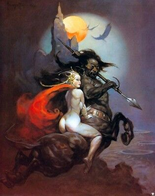 "Authentic Frank Frazetta Print #48 ""THE MOONMAID"" 16X20"
