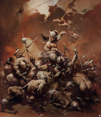 Authentic Frank Frazetta Print #49 -THE DESTROYER 18X22