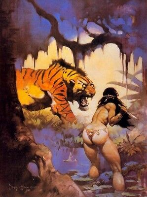 "Authentic Frank Frazetta Print ""ESCAPE ON VENUS"" 16X22"