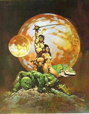 "Authentic Frank Frazetta Print ""A PRINCESS OF MARS"" #54 16 x 20"