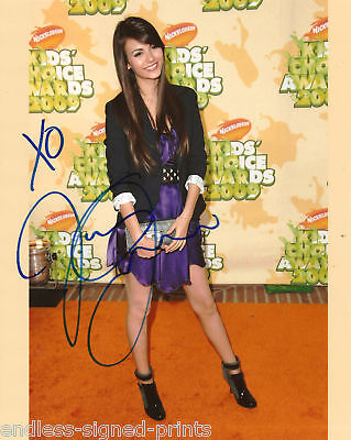 VICTORIA JUSTICE Victorious 8x10 reprint signed photo 3