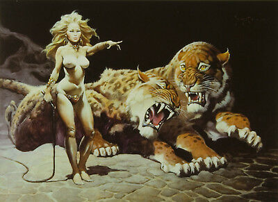 "Authentic Frank Frazetta Print ""COUNTESS""  #120 17X22"""