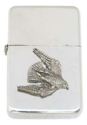Falcon Petrol Lighter FREE ENGRAVING Falconry Gift