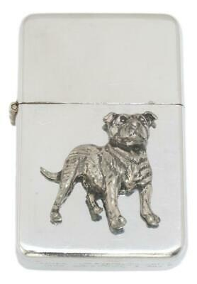 Staffy Bull Terrier Petrol Lighter FREE ENGRAVING