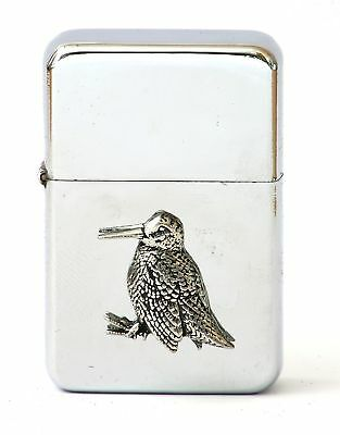 Woodcock Petrol Lighter FREE ENGRAVING Shooting Gift