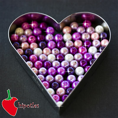 50 PERLE perline BEADS vetro cerato 8mm ASSORTITE PR440
