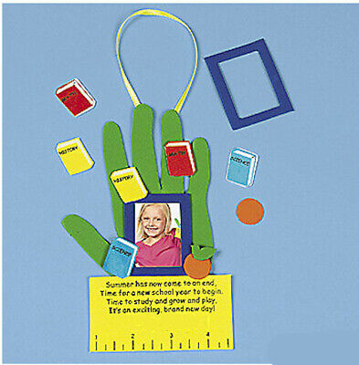 Back to School Photo Frame Craft Kit 4 Kids Personalizable Boys Girls ABCraft