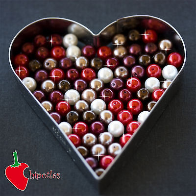 50 PERLE perline BEADS vetro cerato 8mm ASSORTITE PR442