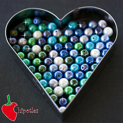 50 PERLE perline BEADS vetro cerato 8mm ASSORTITE PR443