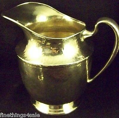 Lrg INTERNATIONAL SILVER ARTS & CRAFTS POUNDED PITCHER -VIEW OUR SILVER LISTINGS